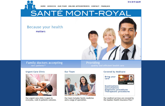 Sante Mont-Royal Medical Clinic | Walk in clinic montreal | Montreal clinic | Medical clinic